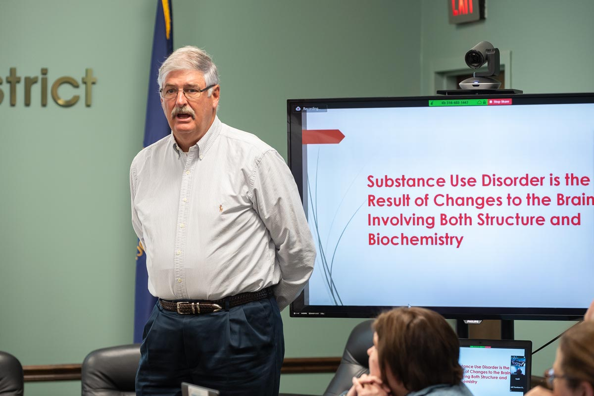 Dr. Richard Miles addressing the Cumberlands Workforce Development Board.